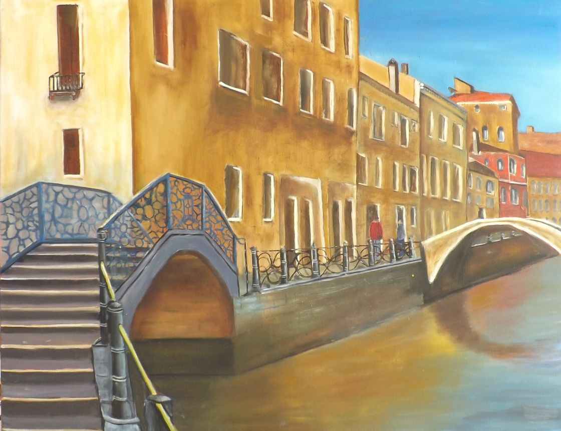 schilderij Memories of Venice van James