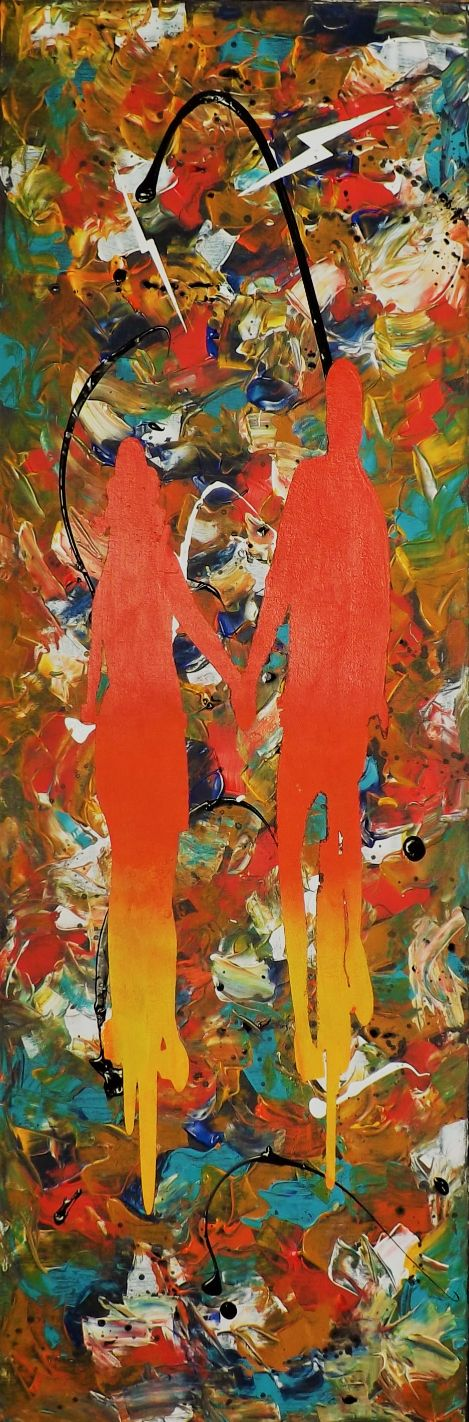 schilderij Rider's on the Storm van James