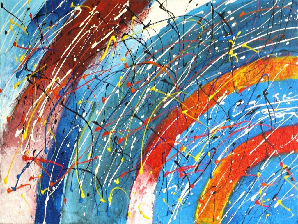 schilderij Spinning Colours van James