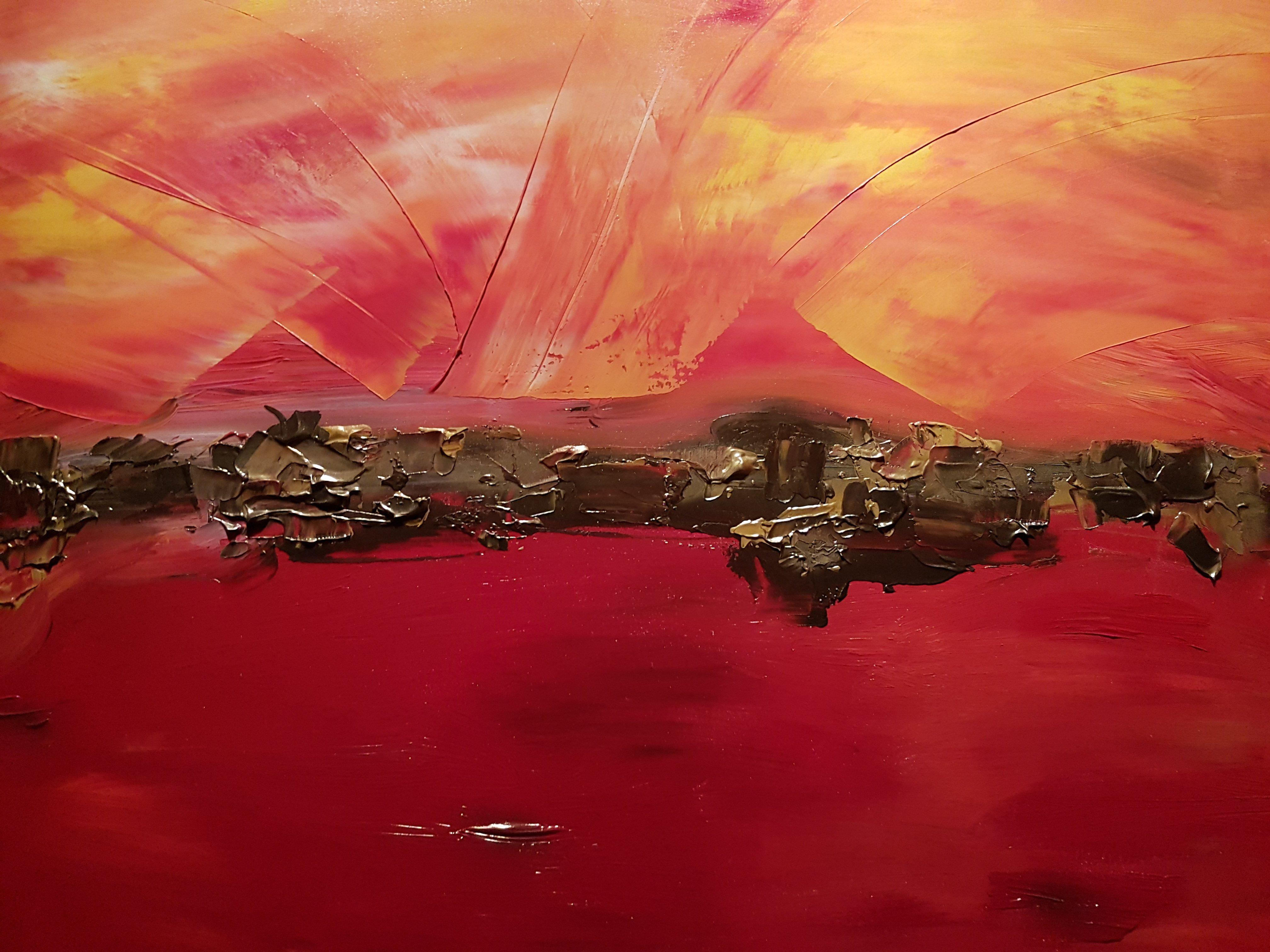 schilderij Sundown van Sacha