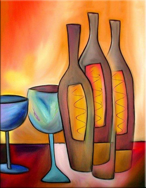 schilderij Wine Tasting van Irina