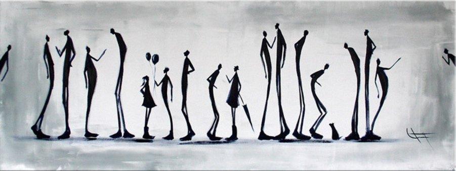 schilderij Strange Figures van Ines
