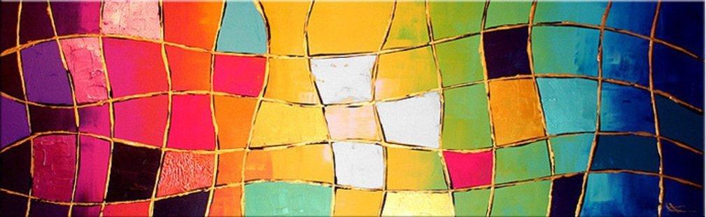 schilderij Illusions van Ines
