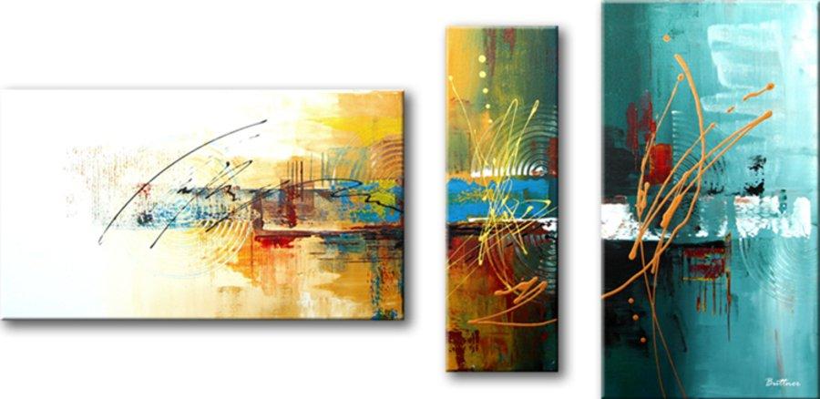 drieluik schilderij Earthsong van Buttner