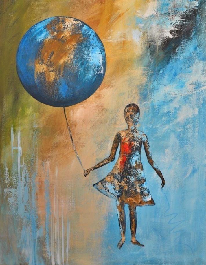 schilderij Balloon Stories 1 van Aleksandra