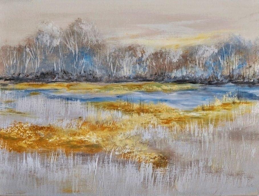 schilderij Blue Creek Marsh van Aleksandra
