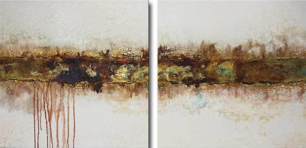 Tweeluik schilderij Breakthrough van Ines