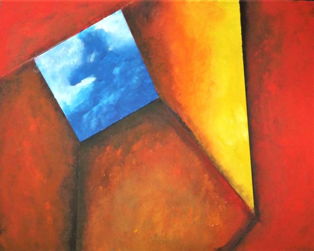 schilderij Flat Earth Society van James