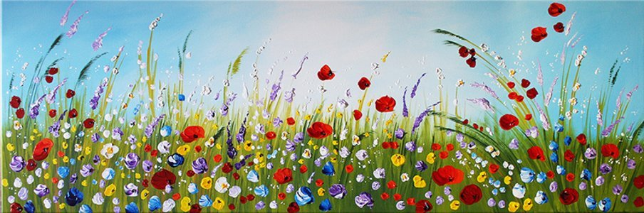 schilderij Flower Meadow van Ines