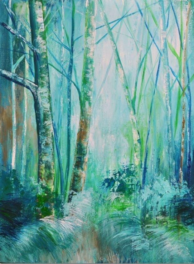 schilderij Forest Blues van Aleksandra