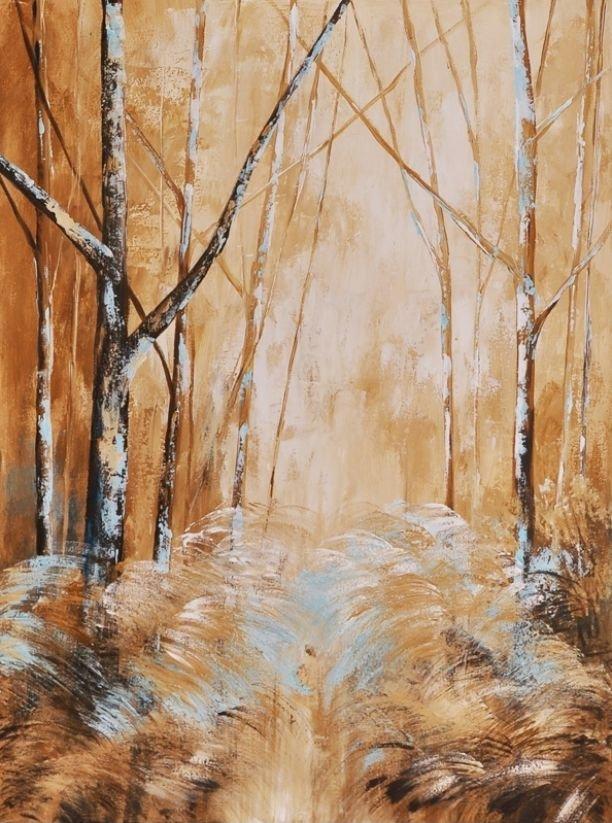 schilderij Forest Blues 3 van Aleksandra