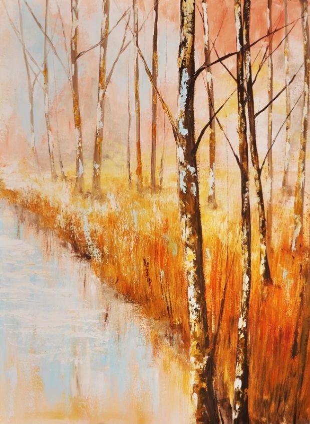 schilderij Forest Blues 4 van Aleksandra