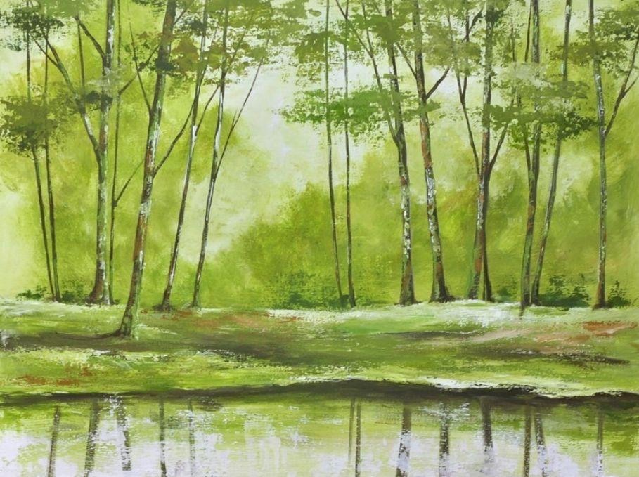 schilderij Forrest Impression 2 van Aleksandra