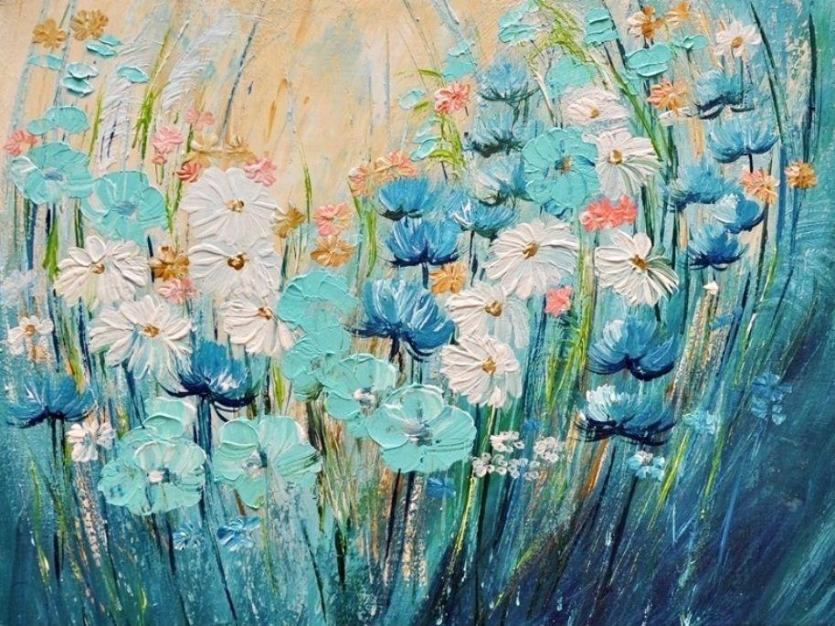 Schilderij Meadow Flowers 2 van Aleksandra
