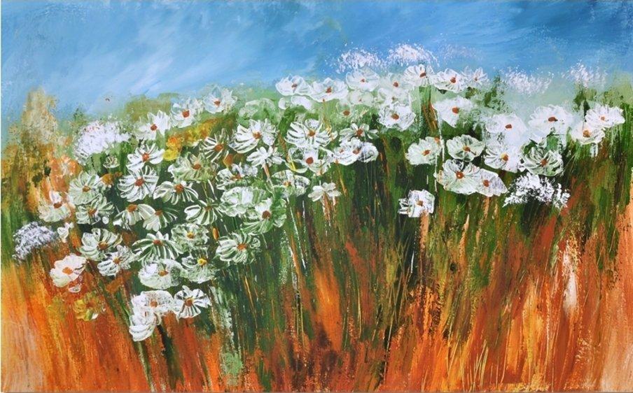 Schilderij Meadow Flowers van Aleksandra