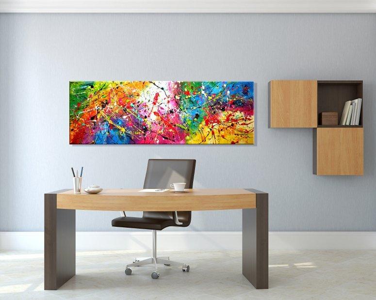 schilderij Carnival van Ines op kantoor