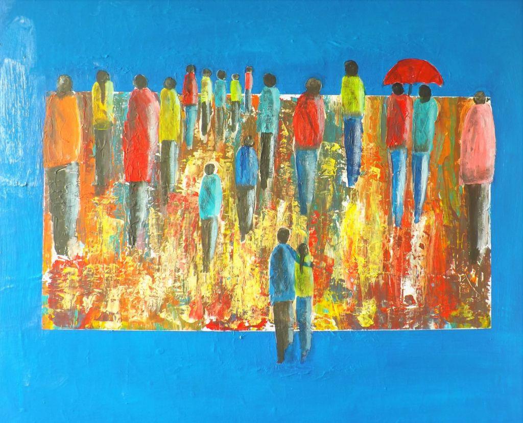 Schilderij Out of the Blue van James