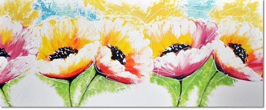 schilderij Pastel Flowers van Aleksandra