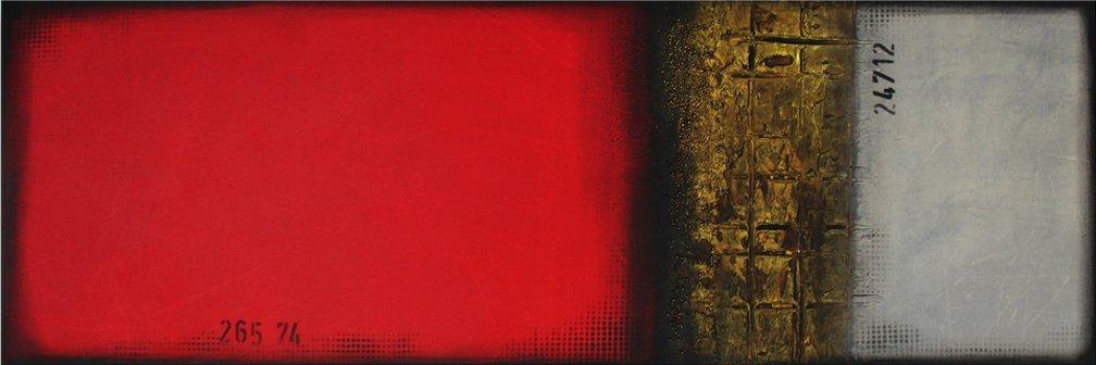 schilderij Red & Grey van Ines