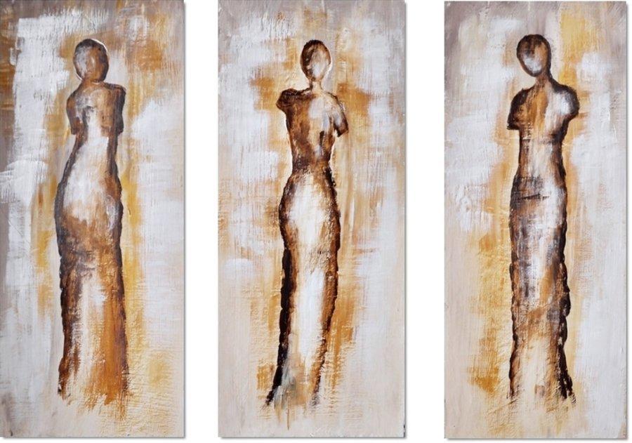 drieluik schilderij Sketchbook Figures van Aleksandra