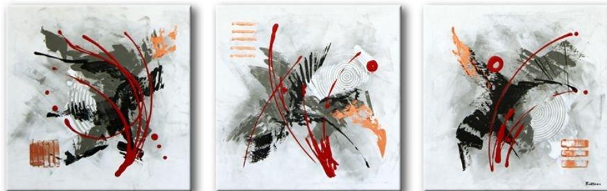 drieluik Spectacular Abstraction III van Buttner