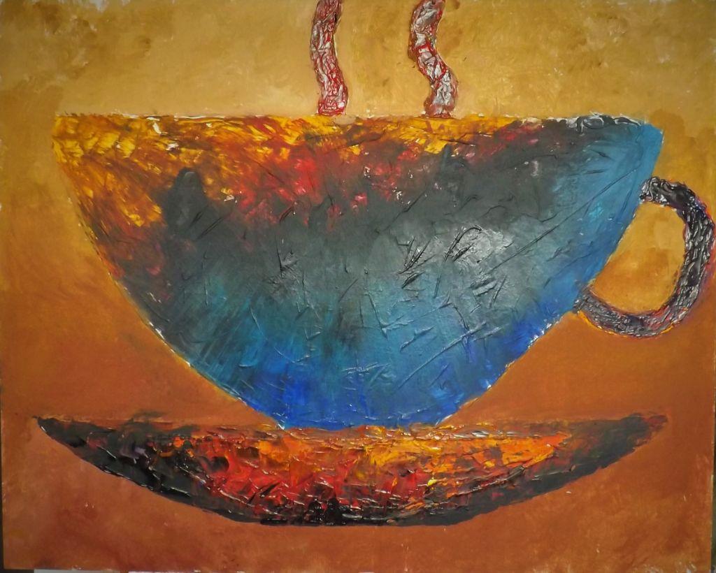 schilderij Storm in a Teacup van James
