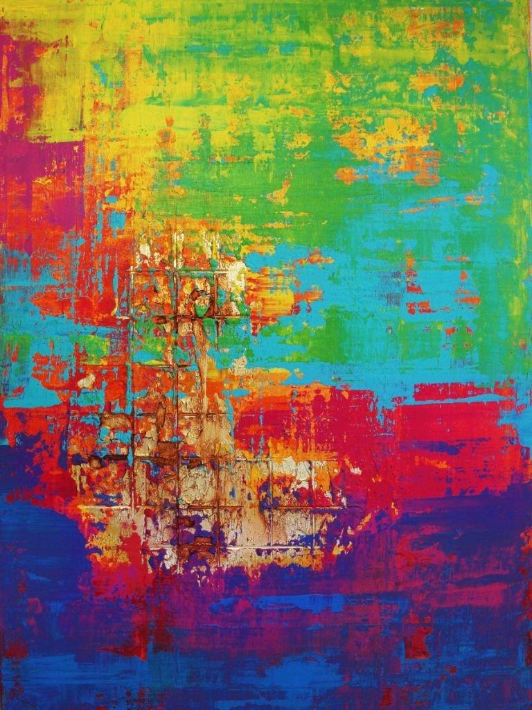 schilderij Vibrant Colors van Ines