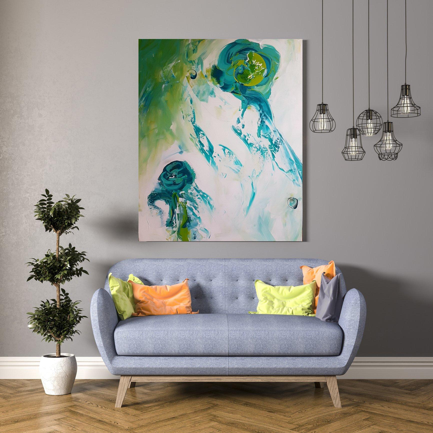 schilderij Water Flowers van Sacha