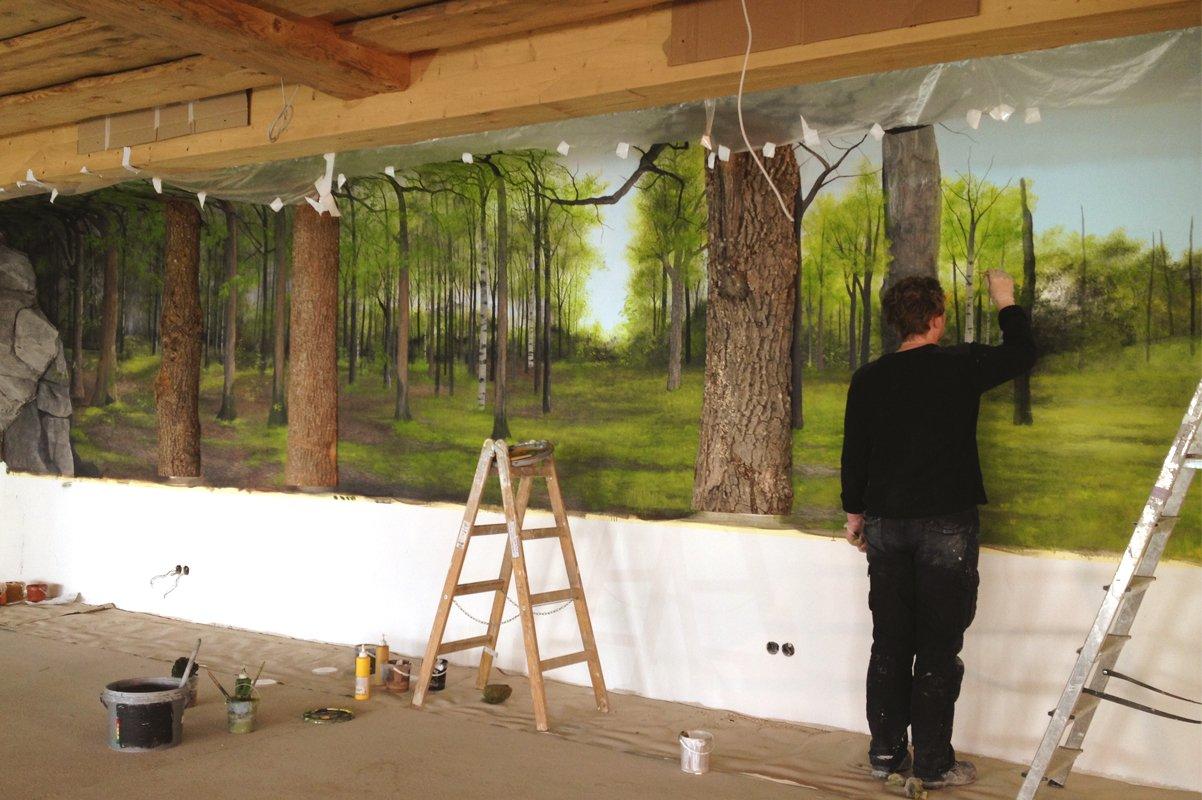 Buttner muurschildering