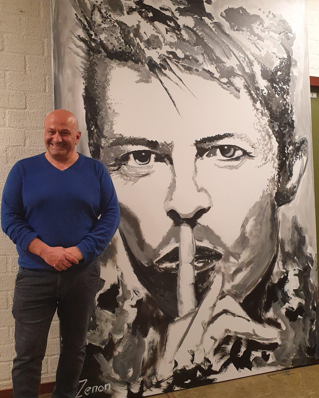 maatwerk schilderij David Bowie door Zenon